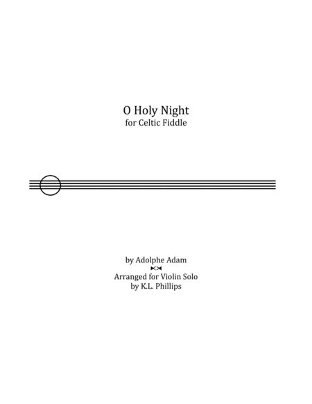O Holy Night For Celtic Fiddle