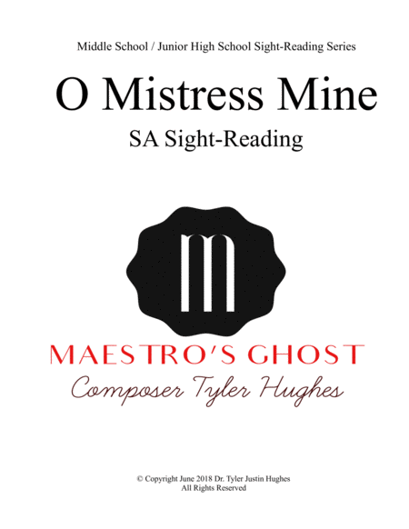 O Mistress Mine Sight Reading