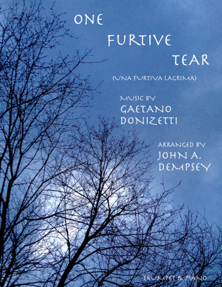 One Furtive Tear Una Furtiva Lagrima Trumpet And Piano