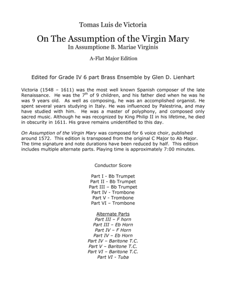 On The Assumption Of The Virgin Mary