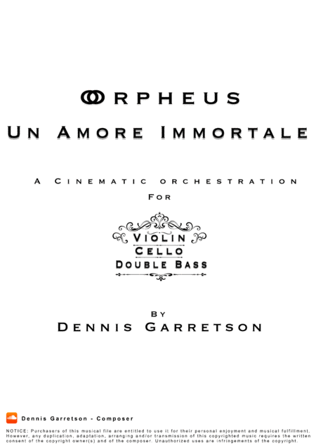 Orpheus Un Amore Immortale A Cinematic String Trio Symphony