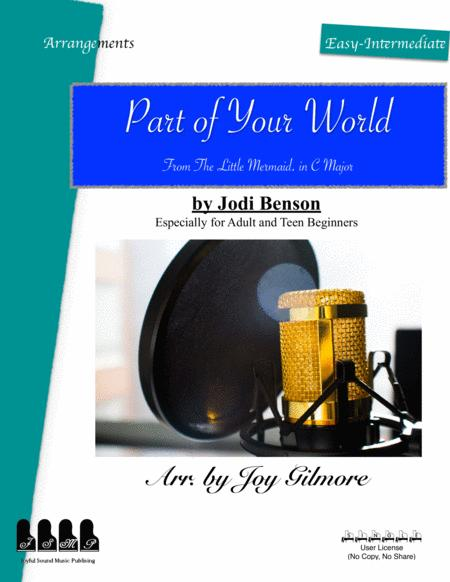 Part Of Your World In C Major Easy Piano Arrangement Free Lifetime New Version Upgrade Free Paper Keyboard Available