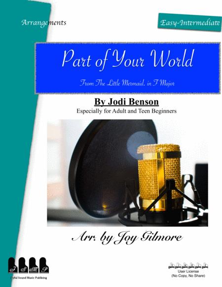 Part Of Your World In F Major Easy Piano Arrangement Free Lifetime New Version Upgrade Free Paper Keyboard Available