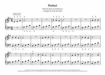 Perfect Ed Sheeran Perfect Really Easy Piano Series
