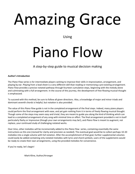 Piano Flow Amazing Grace A Step By Step Guide To Musical Decision Making