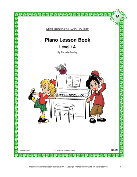 Piano Lesson Book 1a Miss Rhondas Piano Course For Kids