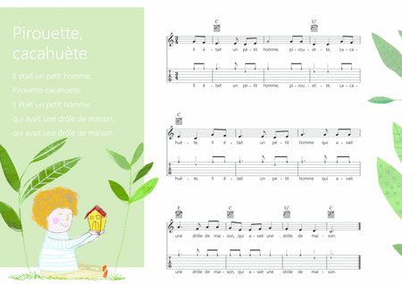 Pirouette Cacahute French Traditional Children Song Melody Guitar Chords Guitar Tab S