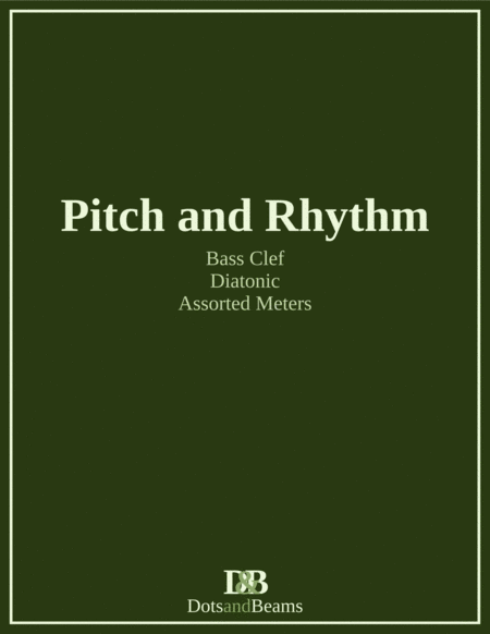 Pitch And Rhythm Bass Clef Diatonic Sight Reading Exercise Book