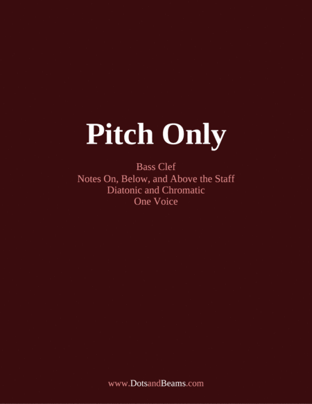 Pitch Only Bass Clef Sight Reading Exercise Book