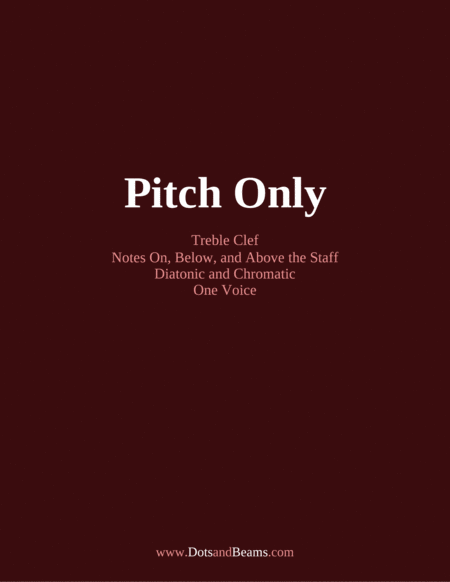 Pitch Only Treble Clef Sight Reading Exercise Book