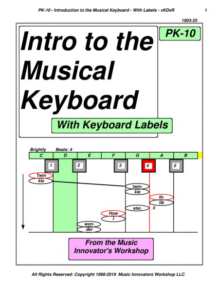 Pk 10 Intro To The Musical Keyboard With Keyboard Labels