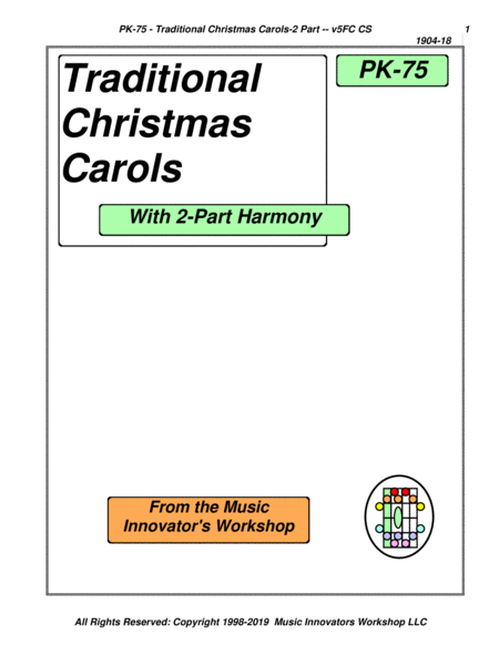 Pk 75 Traditional Christmas Carols Key Map Tablature
