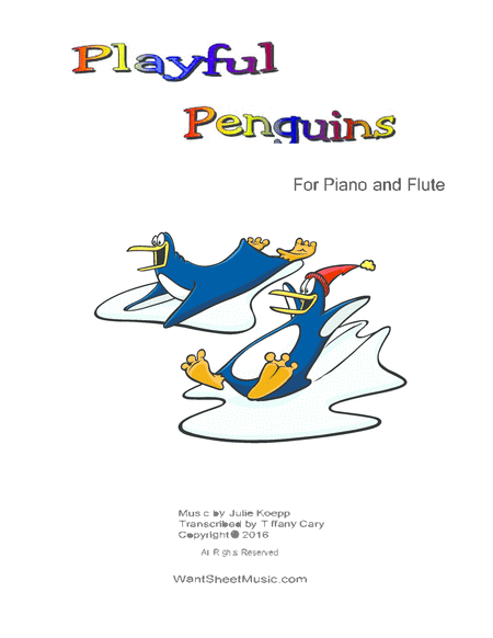 Playful Penguins For Piano And Flute