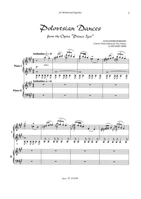 polovtsian dances free music sheet - musicsheets.org  music sheet library for all instruments