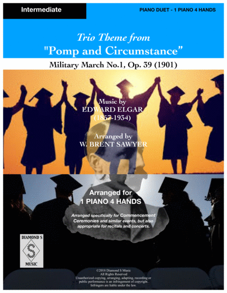 Pomp And Circumstance Theme Elgar Military March No 1 Piano Duet 1 Piano 4 Hands