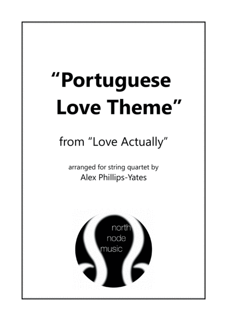 Portuguese Love Theme From Love Actually String Quartet