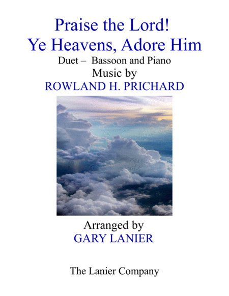 Praise The Lord Ye Heavens Adore Him Duet Bassoon Piano With Score Part