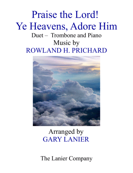 Praise The Lord Ye Heavens Adore Him Duet Trombone Piano With Score Part
