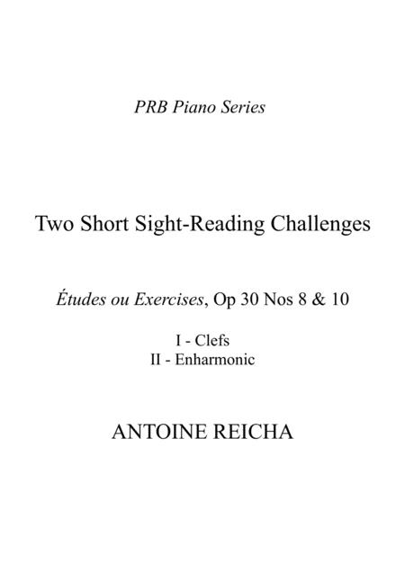 Prb Piano Series Two Short Sight Reading Challenges Clefs Enharmonic Reicha