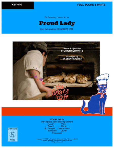Proud Lady From The Bakers Wife Vocal Solo With 9 Piece Band Full Score Parts