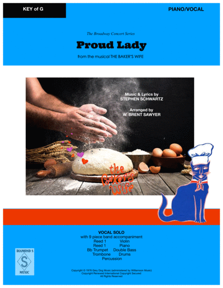 Proud Lady From The Bakers Wife Vocal Solo With 9 Piece Band Piano Vocal