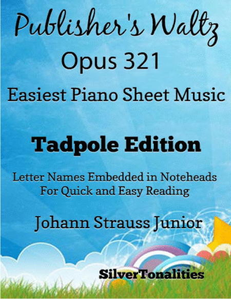 Publishers Waltz Opus 321 Easiest Piano Sheet Music Tadpole Edition