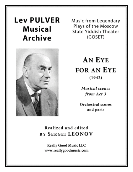 Pulver Lev An Eye For An Eye Musical Scenes From Act 3 For Symphony Orchestra Full Score Set Of Parts