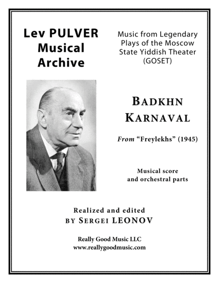 Pulver Lev Badkhn Karnaval From Freylekhs For Symphony Orchestra Full Score Set Of Parts