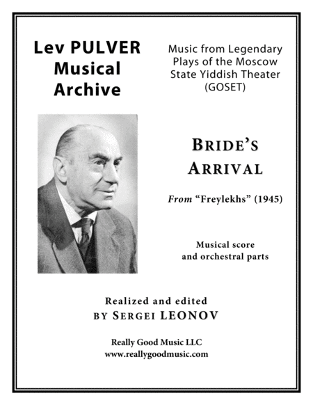 Pulver Lev Brides Arrival From Freylekhs For Symphony Orchestra Full Score Set Of Parts