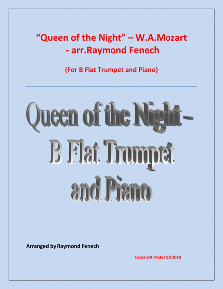 Queen Of The Night From The Magic Flute B Flat Trumpet And Piano