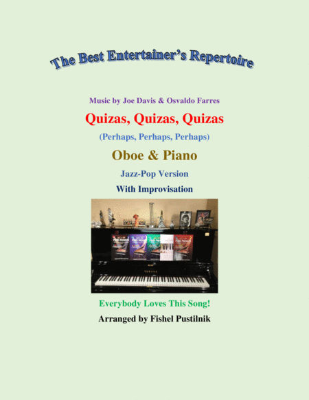 quizs quizs quizs perhaps perhaps perhaps for oboe and piano with  improvisation free music sheet - musicsheets.org  music sheet library for all instruments