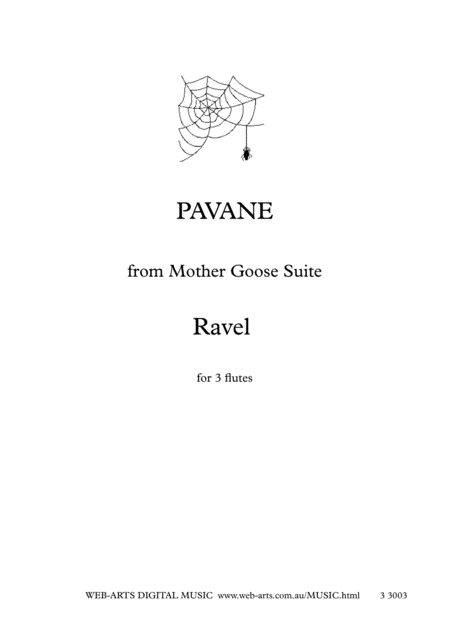 Ravel Pavane From Mother Goose Suite For 3 Flutes