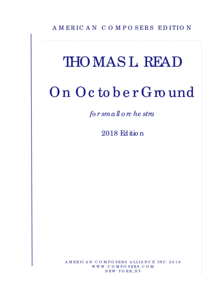 Read On October Ground