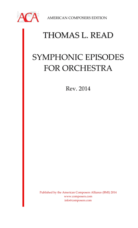 Read Symphonic Episodes For Orchestra