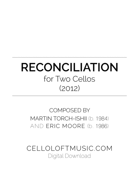 Reconciliation For Two Cellos