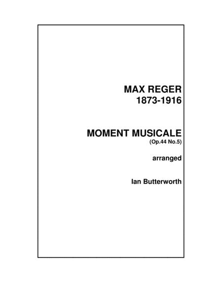 Reger Moment Musicale From 10 Short Pieces Op 44 For String Orchestra