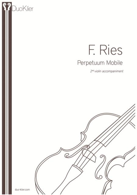 Ries Perpetuum Mobile 2nd Violin Accompaniment