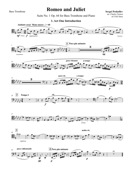 meat salad for solo bass trombone free music sheet - musicsheets.org  music sheet library for all instruments