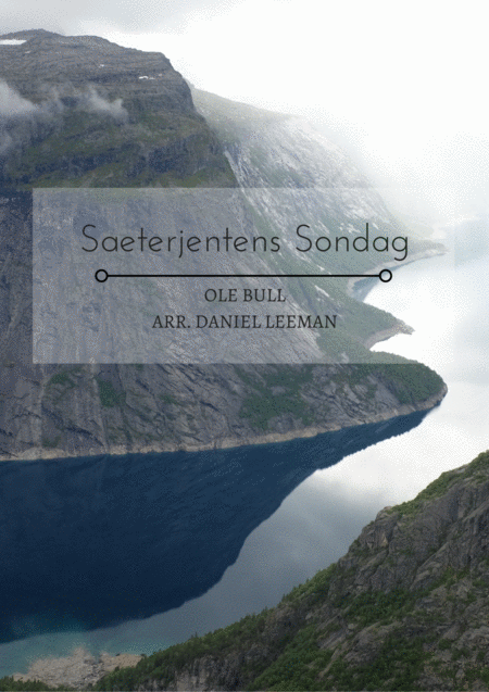 Saeterjentens Sondag For Clarinet Piano