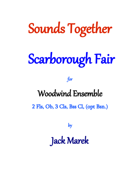 Scarborough Fair For Woodwind Ensemble