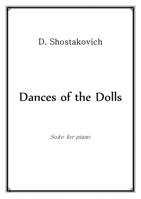 Schostakovich Dolls Dances Piano Solo