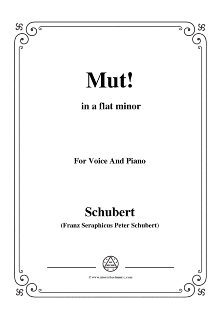 Schubert Gute Nacht From Winterreise Op 89 D 911 No 1 In E Flat Minor For Voice Piano