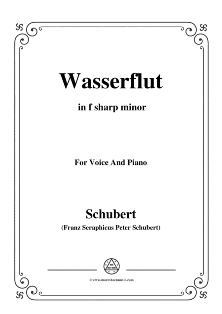 schubert wasserflut from winterreise op 89 d 911 no 6 in f sharp minor for voice  piano free music sheet - musicsheets.org  music sheet library for all instruments