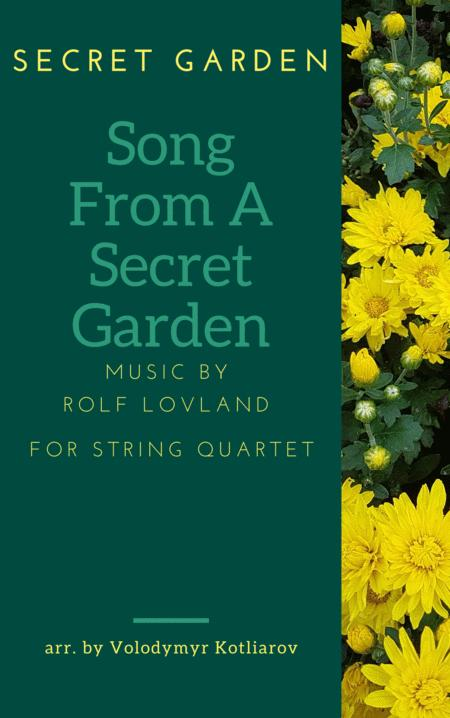 Secret Garden Song From A Secret Garden For String Quartet