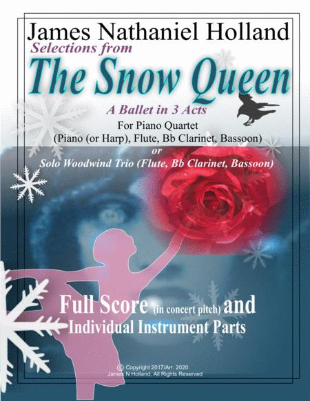 Selections From The Snow Queen Ballet For Piano Quartet Or Woodwind Trio