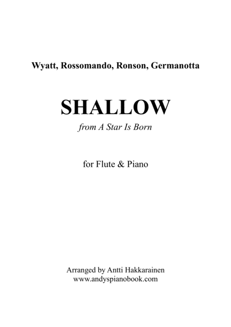 Shallow From A Star Is Born Flute Piano