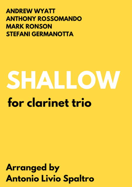 Shallow From A Star Is Born For Clarinet Trio