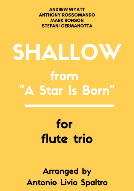 Shallow From A Star Is Born For Flute Trio