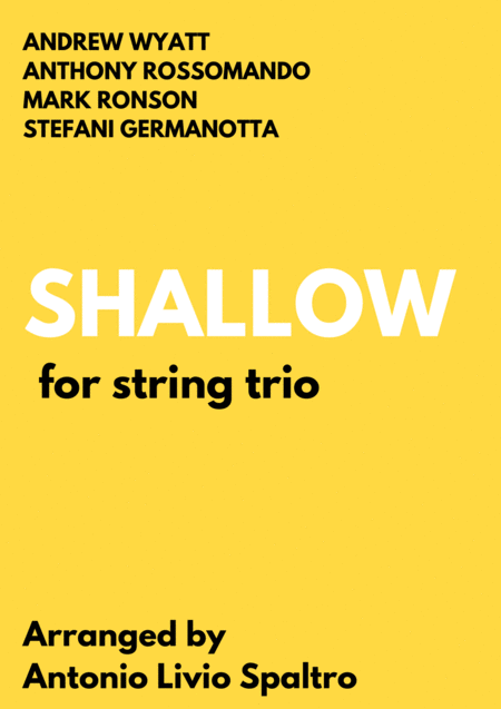 Shallow From A Star Is Born For String Trio
