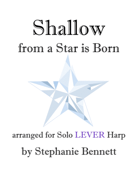Shallow From A Star Is Born Lever Harp Arrangement